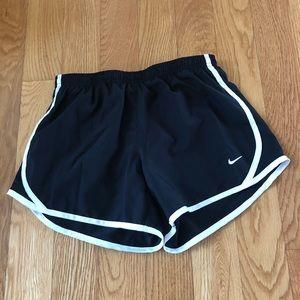 Girls' Nike Black and White Shorts